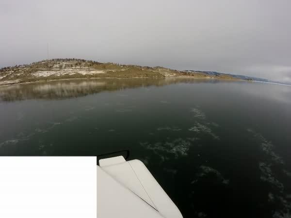 Car Breaks The First Ice on Lake Baikal