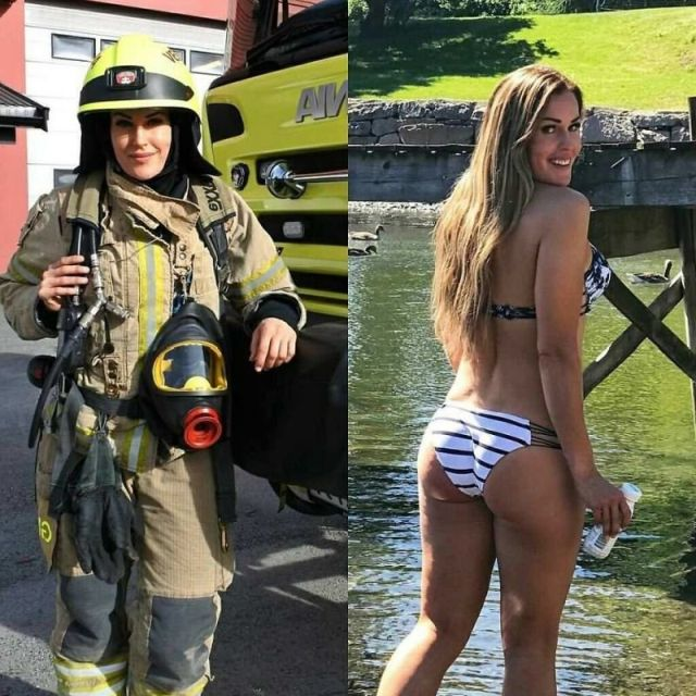 Girls In And Without Uniform (28 pics)
