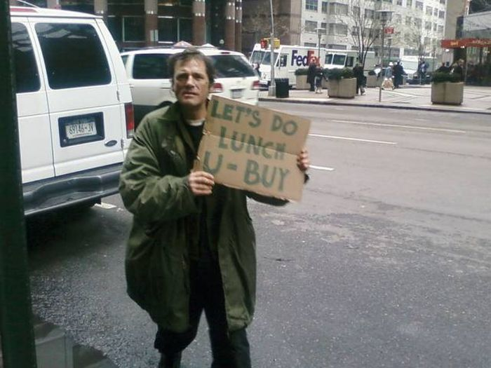 Homeless People Have Sense Of Humor (13 pics)