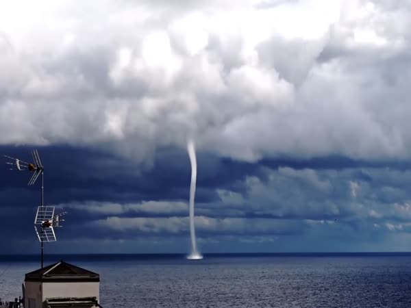 Rare Waterspout Spotted off Sanremo Coast of Italy