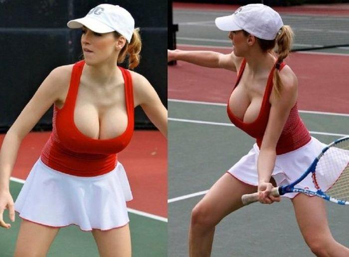 women tennis 04 - שחקניות טניס שנתפסו בעדשה בזמן משחק (19 תמונות)
