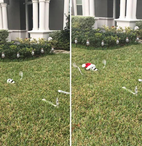 When You're Too Lazy To Decorate Your Home For Christmas (24 pics)