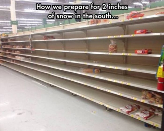 US South Was Totally Unprepared For The Snow (23 pics)