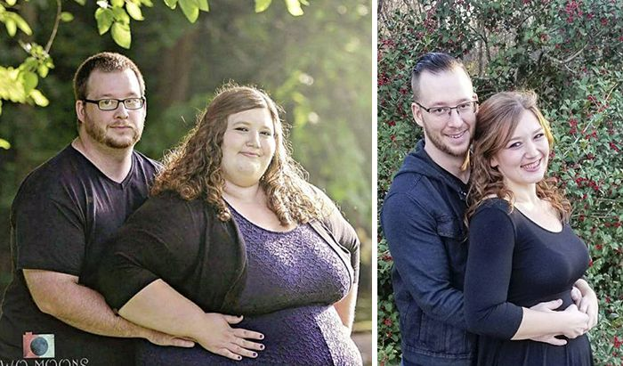 Woman Who Used To Weigh Almost 500lbs (226 kg) Recreates Her Old Photos (18 pics)