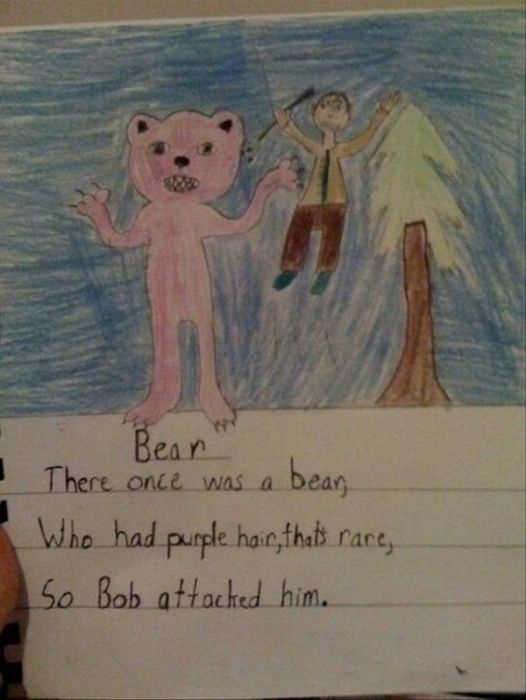 Funny And Horrifying Children's Drawings (16 pics)