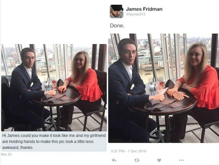 Don't Ask James Fridman To Photoshop Your Photos! (25 pics)