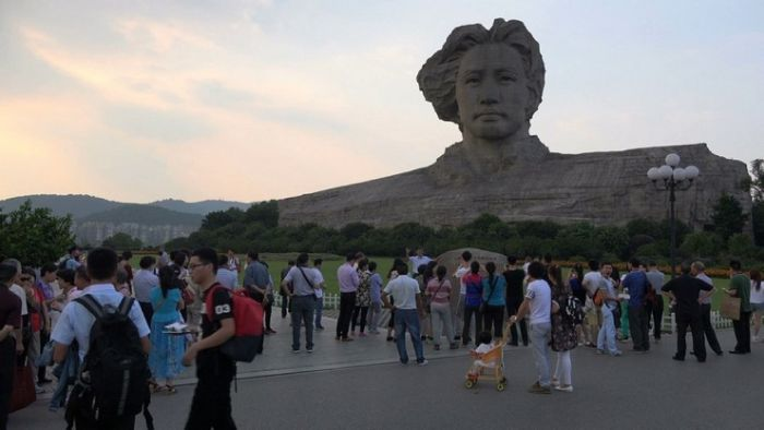 In China, Mao's Huge Head Was Built For The 116th Birthday Of The Leader (8 pics)