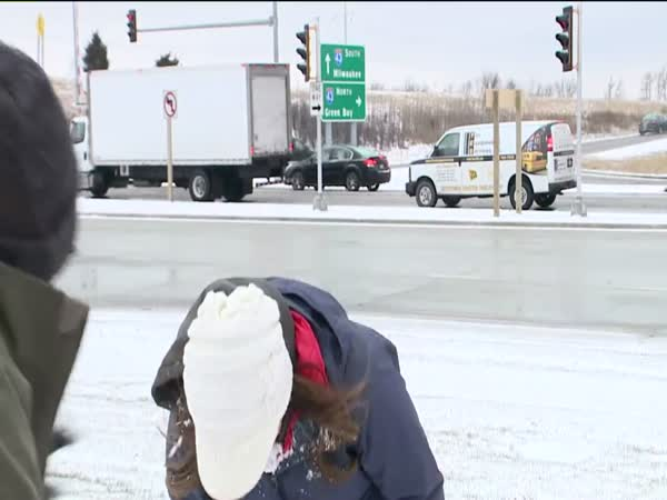 News Anchor Gets Hit By a Snowball Before Live Weather Update