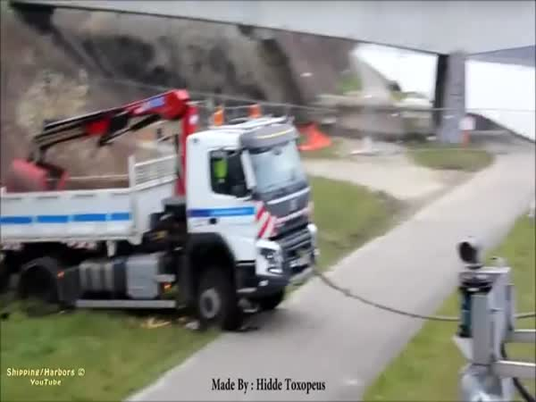 Stuck Truck Saved By Ship
