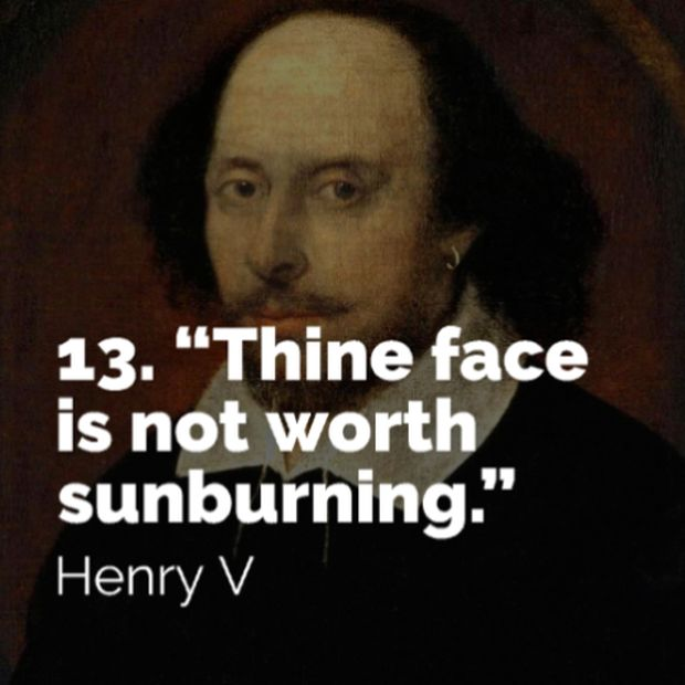 Funny Insults from Shakespeare (15 pics)