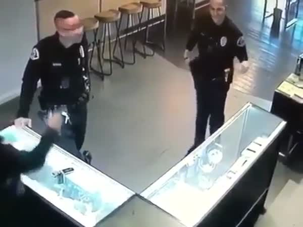 Cop Shows Off His Dancing Skills