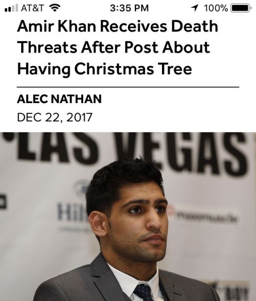 Muslim Boxer Amir Khan Receives Death Threats After Putting Up A Christmas Tree For His Daughter (4 pics)