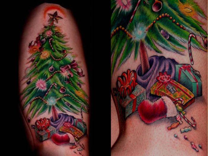 Good Christmas Tattoos (19 pics)