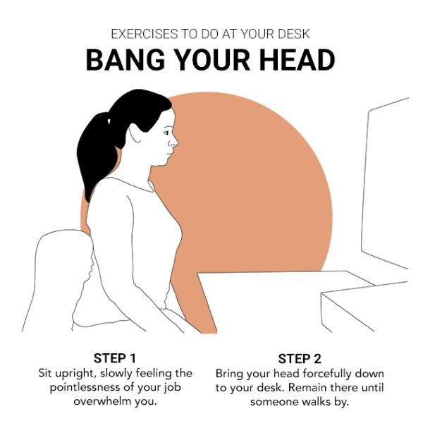 Best Exercises to Do at Your Desk (12 pics)