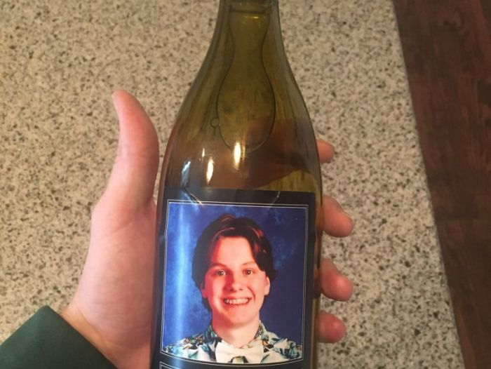 Parents Gave The Teachers Wine With A Funny Label  (2 pics)