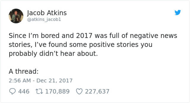 Positive News Of 2017 (12 pics)