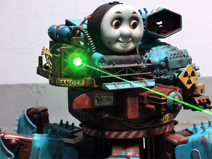 Post-Apocalyptic Thomas the Tank Engine by Y Nakajima (30 pics)