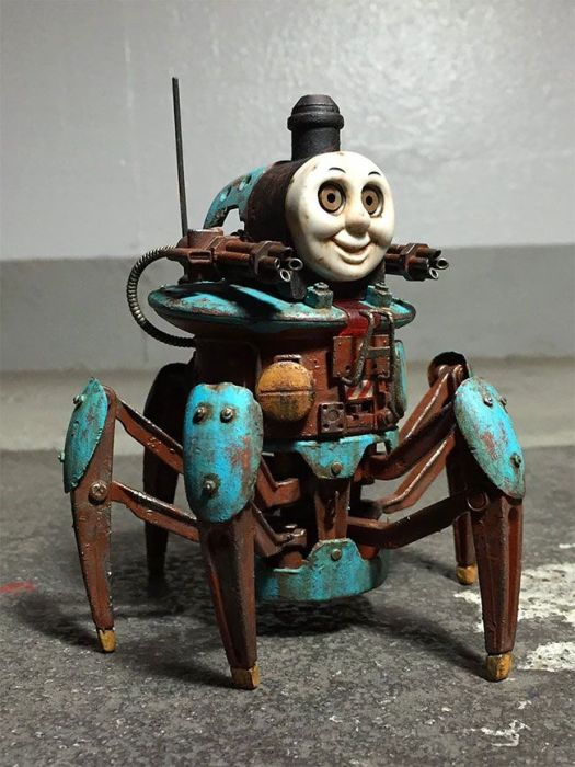 Post-Apocalyptic Thomas the Tank Engine by Y Nakajima (30 pics)