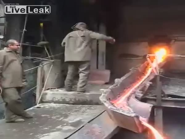 Leidenfrost Effect Let Hero Pass Hand Through Molten Metal