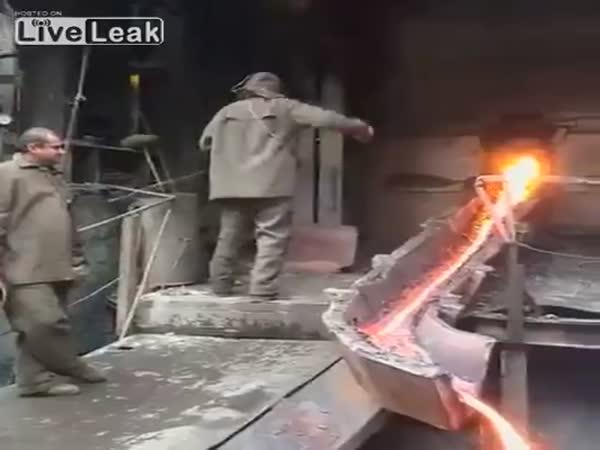 Leidenfrost Effect Let Hero Pass Hand Through Molten Metal