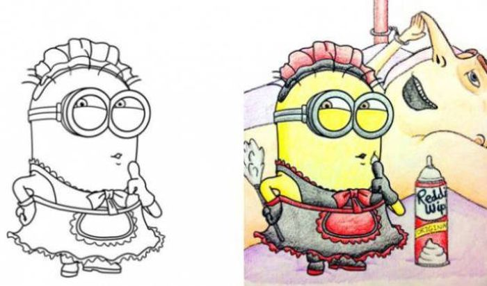 Coloring Books For Kids Colored By Adults 23 Pics