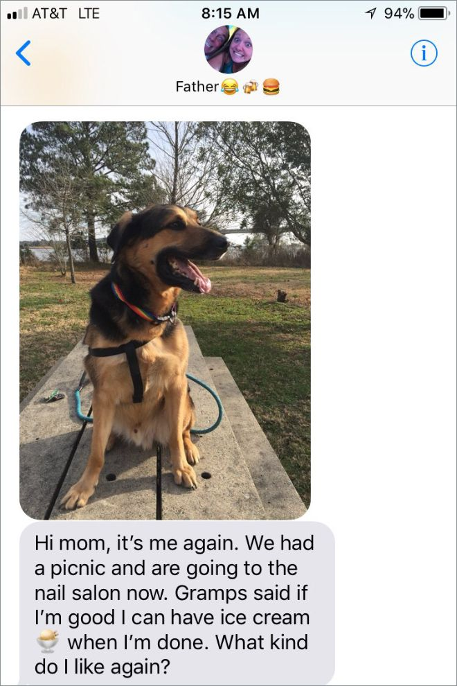 Woman Leaves Her Dog With Dad And Receives Great Photos (6 pics)