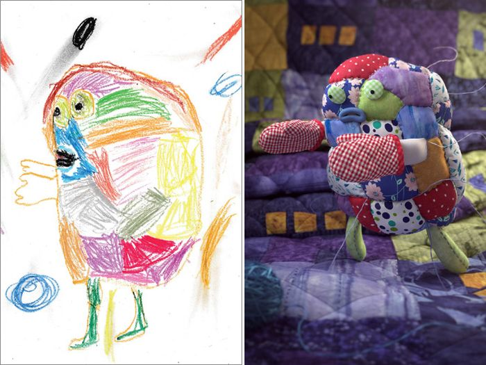 Kids' Monster Doodles Recreated by Professional Artists (15 pics)