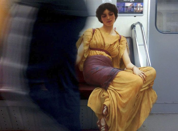 Artist Inserts People From Classical Paintings Into Today's World (21 pics)