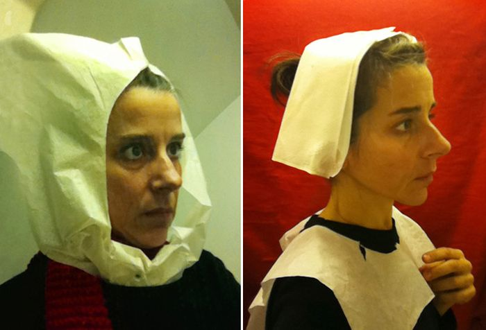 Artist Recreates 15th Century Paintings In Airplane Toilets (9 pics)