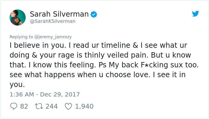 Sexist Troll Attacks Sarah Silverman On Twitter. She Responses (26 pics)