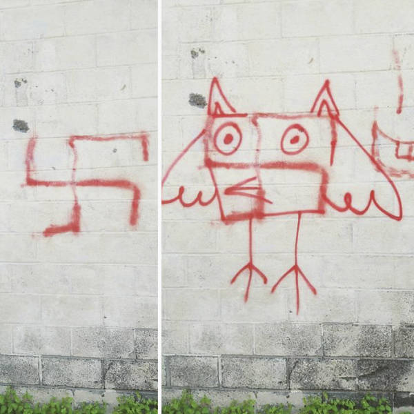 How To Fight Swastikas On The Streets (12 pics)