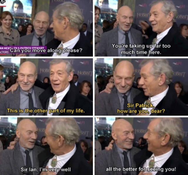 Patrick Stewart And Ian McKellen Friendship (44 pics)