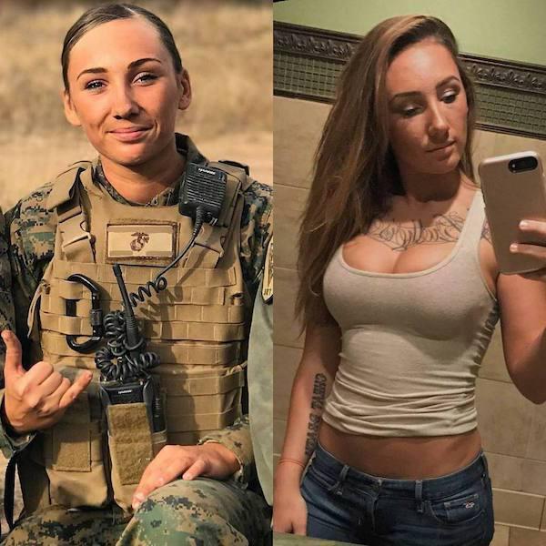 sexy female in uniforms
