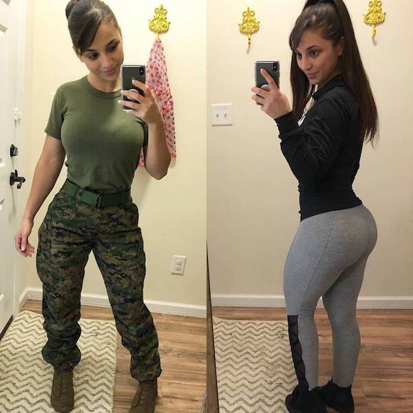 Hot Girls In And Out Of Uniform (26 pics)