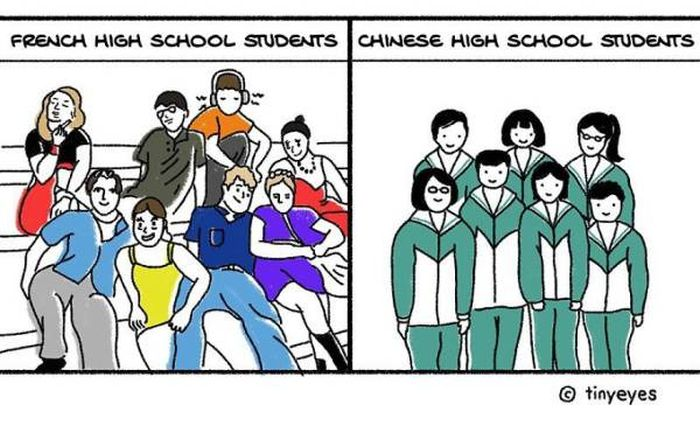 Chinese Comic Artist Shows How Chinese Culture Really Looks Like In Comparison To Western Culture (36 pics)