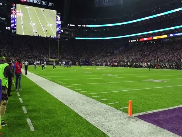 Stefon Diggs 61 Yard Touchdown Catch - Minneapolis Miracle Sideline Cam Angle