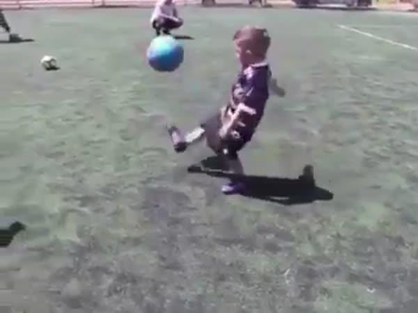 Kid Shows Football Skills