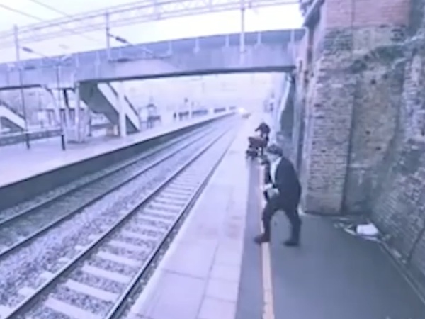 Heroic Woman Saves Man From Suicide at UK Train Station