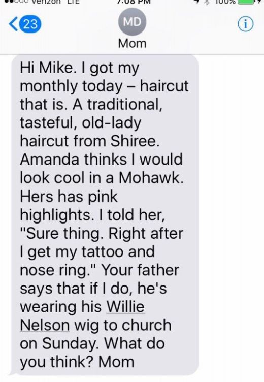 Texts From Mike Rowe's Mom (17 pics)