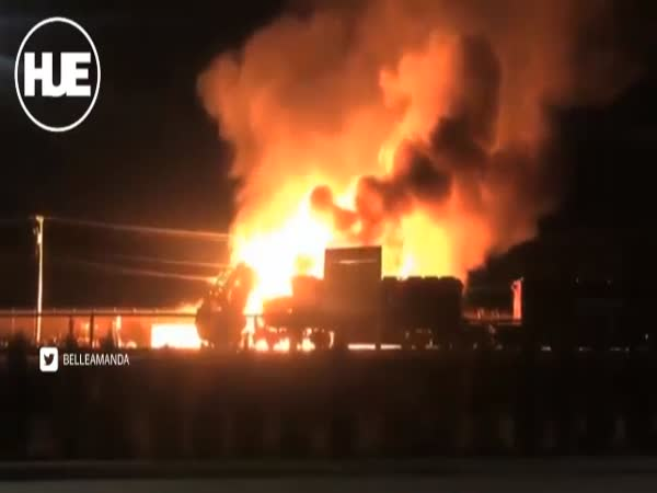 Canada Train Engulfed in Flames After Crash With Ethanol Truck