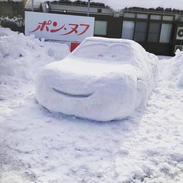 Snow Sculptures In Tokyo (40 pics)