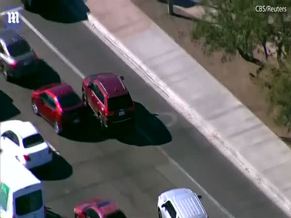Police Chase Ends With Car Hitting Innocent Driver Full On