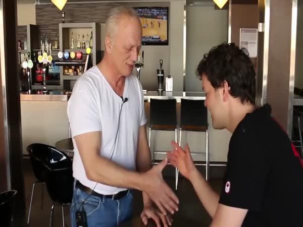 Elderly Canadian Professor Shows A Few Arm Wrestling Tricks