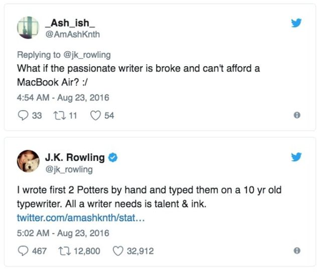 Advice From J.K. Rowling (11 pics)