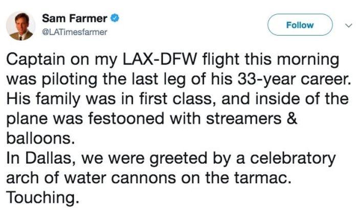 Letter to Passengers For Pilot's Final Flight (2 pics)