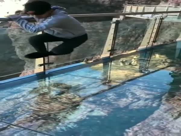 There's A Glass-bottom Bridge In China That Plays a Horrible Prank on Pedestrians