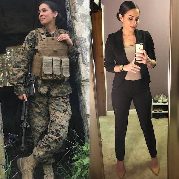 Women In And Out Of Uniform (23 pics)