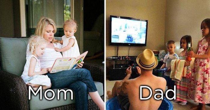 Moms Vs Dads As Parents (20 pics)