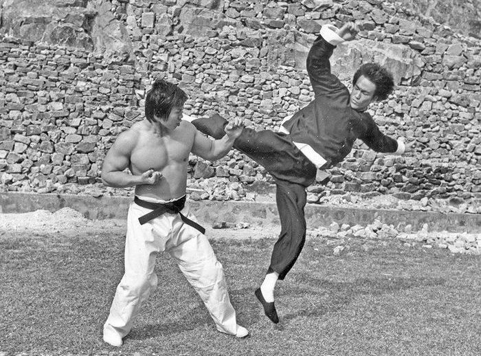 Two Legends. Bruce Lee And Bolo Yeung (12 pics)