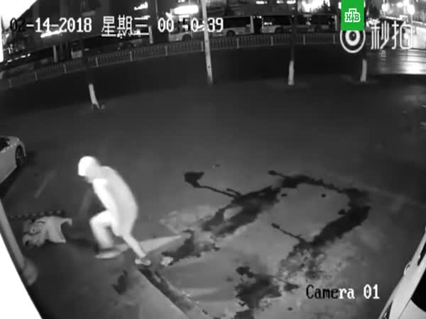 Instant Karma - Epic Fail Robbery In China